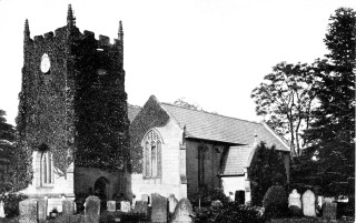 St Peters Church Barford with Ivy and Pinnacles 19th Century