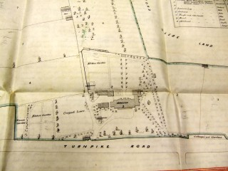 19C map of Barford House, Wellesbourne Road, grounds | Coventry archives from barford house file