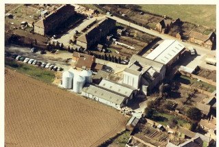 Aerial view of barford animal feed mill | David Hemmings
