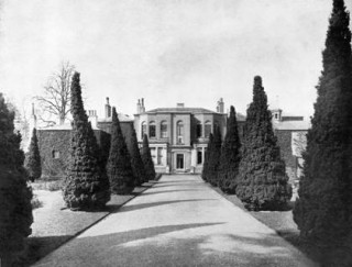 Yew tree walk, rear of Barford House C 21C | Warwick record office