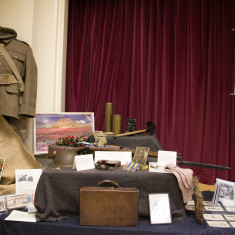 Original WW1 military equiptment and uniform, including hand-knitted socks with 'Kitchener' toe. | Alan McDermott