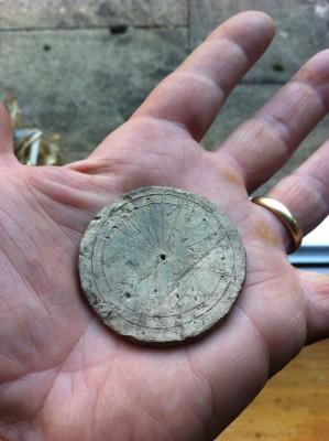 Engraved lead Sundial | Matthew Macfadyen