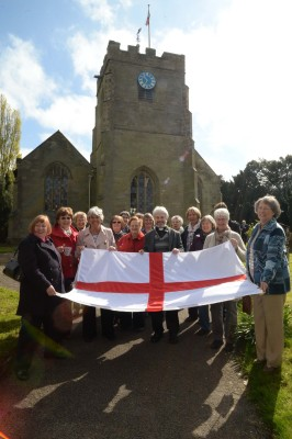 A new St George's Flag presented to St Peter's Church. April 2014
