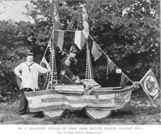 Barford Hill House, cycling parade 1896