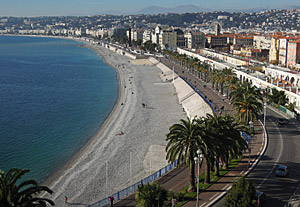 Promenade Des Anglais, Nice.  Funded by Lewis Way  patient of Barford Asylum
