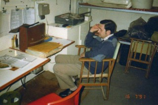 Roger Martin on duty in Observation post