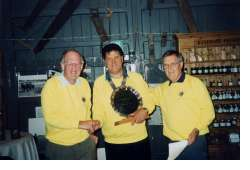 Pete Webb (centre) when Chairman of Wellesbourne Lions