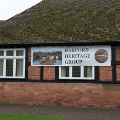 Barford Memorial Hall with Heritage Banner, November 2015