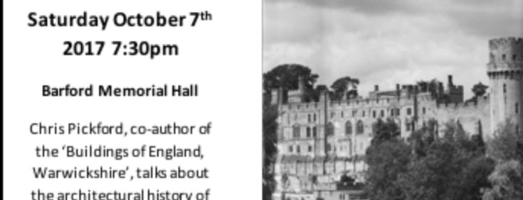 Well-known author to give talk on Barford's Architectural Heritage