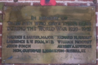 Bus Shelter Memorial Plaque