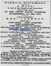 Typical newspaper advert for Charity Ball